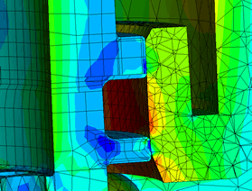 FEA contact analysis